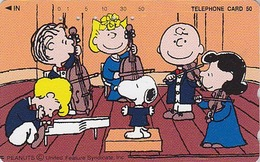 Télécarte Japon / 110-201942 - BD COMICS - Chien SNOOPY ** Music Orchestra ** - DOG Japan Peanuts Phonecard - 1410 - Comics