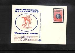 Rwanda 1966 World Football Cup Great Britain - Germany Vice World Champion Interesting Cover - Coupe Du Monde