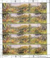 UNO WIEN 209-213, Kleinbogen, Gestempelt, HABITAT II 1996 - Blocks & Kleinbögen