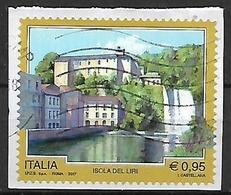 ITALIA  2017 PROPAGANDA TURISTICA SASS. 3776 USATO VF SU FRAMMENTO - 2011-...: Usati