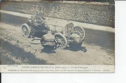 COUPE GORDON BENNETT   Circuit D'auvergne  WERNER  Reparant Une Panne - Auvergne Types D'Auvergne