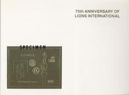 1992 GUYANA,  LIONS INTERNATIONAL / ROTARY - MI # 3814BA / SPECIMEN , MAGNÍFICA Y RARA PRUEBA - Rotary, Club Leones