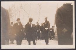 CPA 11 -  SALLELES  D'AUDE - Visite Du Président De La République Gaston Doumergue Le 9 Mars 1930 Carte Photo, - Salleles D'Aude