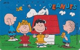 Télécarte Japon / 110-011 - BD COMICS - Chien SNOOPY ** Tous à La Niche ** - DOG Japan Peanuts Phonecard - 1413 - BD