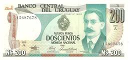 URUGUAY 200 N. PESOS 1986 PICK 66 UNC - Uruguay