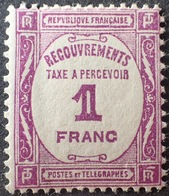 R1615/933 - 1927 - TIMBRE TAXE - N°59 NEUF* - 1859-1955 Mint/hinged