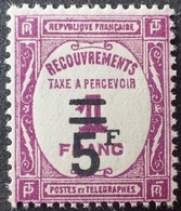 R1615/937 - 1929 - TIMBRE TAXE - N°65 NEUF* - 1859-1955 Mint/hinged