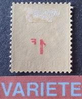 R1615/941 - 1940 - TYPE CERES - N°487 NEUF* - VARIETE ➤➤➤ Surcharge RECTO-VERSO - Varietà: 1931-40 Nuovi