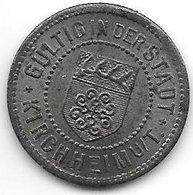 *notgeld Kirchheim 10 Pfennig  O.j./ND  Fe  7129.5/  F244.5a - [ 2] 1871-1918 : Empire Allemand