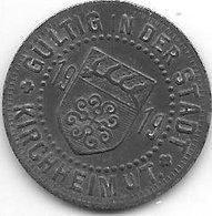 *notgeld Kirchheim 10 Pfennig  1919 Zn  7129.7/  F244.7a - Andere