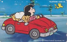 Télécarte Japon / 330-61265 - BD COMICS - Chien SNOOPY ** Voiture Car Driving ** - DOG Japan Peanuts Phonecard - 1418 - BD