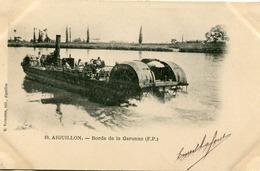 AIGUILLON - BORDS De GARONNE - RARE CLICHE Sur UNE CARTE POSTALE PRECURSEUR - - Autres Communes