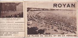 17 ROYAN - Dépliant Touristique Format 9,7 X 14 Cm Fermé (9,7 X 42 Cm Ouvert) - 5 Vues - 2 Scans - Royan
