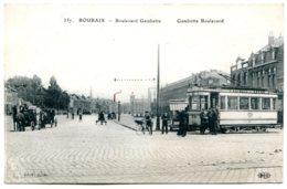 59100 ROUBAIX - Boulevard Gambetta - Tramway N° 4 Pour LEERS - Roubaix