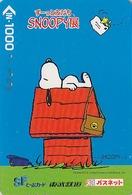 Carte Prépayée Japon - BD COMICS - Chien SNOOPY - DOG PEANUTS Japan Prepaid Bus Card - Tobu 2734 - BD