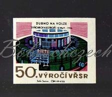L1-178 CZECHOSLOVAKIA 1967-50th Anniversary October Revolution Dubno Synchrophasotron - Proton Accelerator 10 MeV 1956 - Zündholzschachteletiketten