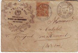 15c Mouchon Obl Cachet Type 84 De LA GOUTELLE , Puy De Dome , Lettre 1902 - Marcophilie (Lettres)
