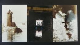 Lot De 3 Photos Originales De Sous-marin Submarine - Boats