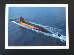 Carte Postale Sous-marin Nucléaire Submarine Format 12.5x17.5cm - Submarines