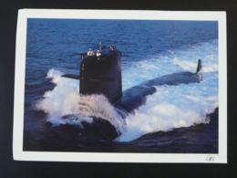 Carte Postale Sous-marin Submarine Saphir Format 12.5x17.5cm - Sous-marins