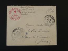 Lettre Franchise Militaire Oblit. Tresor Et Postes 180 Croix Rouge Armée Du Rhin 1924 - Poststempel (Briefe)