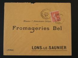 Lettre Oblit. Ambulant Convoyeur Toulouse à Cette (Sète) 1927 - Poste Ferroviaire