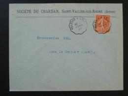 Lettre Oblit. Ambulant Convoyeur Valence Drome à Lyon 1929 - Poste Ferroviaire