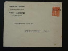 Lettre 50 Semeuse Manufacture Horlogerie Du Doubs Oblitérée à L'arrivée à Metz 1932 - Cachets Manuels