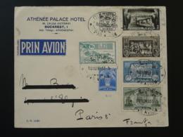 Lettre Par Avion Air Mail Cover Roumanie Pour Paris 1933 - Lettres & Documents