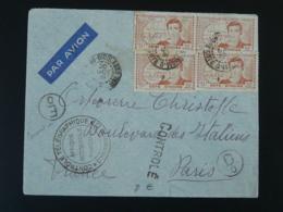Lettre AOF Censure Contrôle Télégraphique Timbre Explorateur René Caillé Cote D'Ivoire 1937 - Brieven En Documenten