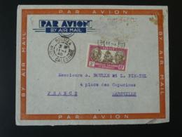 Lettre Par Avion Air Mail Cover Nouvelle Calédonie Pour Marseille 1940 - Nueva Caledonia