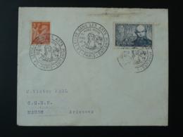 La Lettre Dans Les Arts Mineurs Paul Verlaine Musée Postal Paris 1952 Obliteration Sur Lettre Postmark On Cover - France