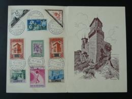 Encart Philatélique Chateau Castle Saint Marin San Marino 1955 - Saint-Marin