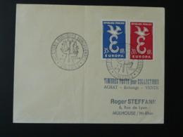 Lettre Cover Oblit. Relations Publiques Européennes Orléans 1959 Sur Paire Europa 1958 - 1958