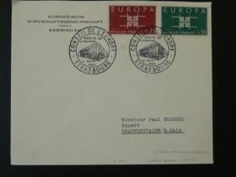 Lettre Cover Conseil De L'Europe Strasbourg Europa 1963 (2) - 1963