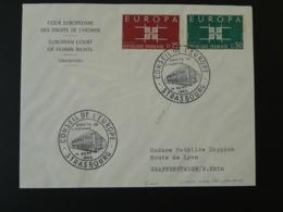 Lettre Cover Cour Européenne Des Droits De L'Homme Strasbourg Europa 1963 (ex 2) - 1963