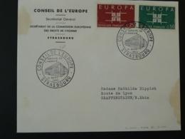 Lettre Cover Commission Européenne Des Droits De L'Homme Conseil De L'Europe Strasbourg Europa 1963 - 1963