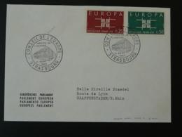 Lettre Cover Parlement Européen Strasbourg Europa 1963 - 1963