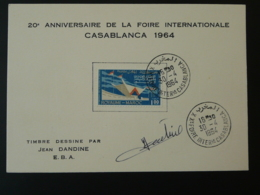 Carte Foire Internationale De Casablanca Signée Par L'artiste Maroc 1964 (tirage 70 Ex) - Marocco (1956-...)