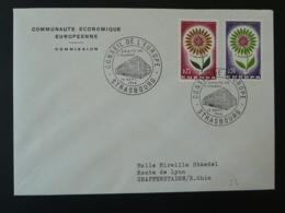 Lettre Cover Conseil De L'Europe Strasbourg Europa 1964 (ex 4) - 1964