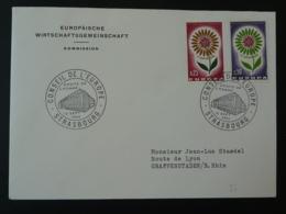 Lettre Cover Conseil De L'Europe Strasbourg Europa 1964 (ex 5) - 1964