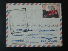 Lettre Par Avion Air Mail Cover Avec Cachets De Retour D'Israel 1966 - France