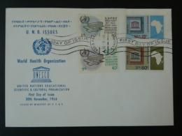 FDC Ethiopie WHO Unesco 1966 - Ethiopie
