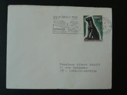 Grand Prix De Monaco 1967 Flamme Sur Lettre Postmark On Cover - Cars