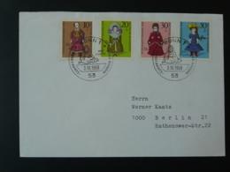 Lettre FDC Poupées Dolls Bonn Allemagne Germany 1968 - Puppen