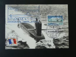 Carte Maximum Card Sous-marin Le Redoutable Submarine Brest Ile Longue Marine 1970 (ex 5) - Sous-marins