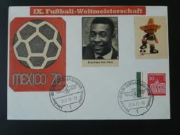 Lettre Cover Coupe Du Monde Football World Cup Mexico 1970 Berlin - Copa Mundial