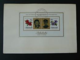 FDC Bloc Sheetlet Mariage Royal Wedding Aitutaki 1973 - Aitutaki