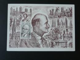 Carte Maximum Card Robert Schuman Europe Gravure De Decaris 1975 - 1970-79