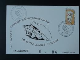 Carte Commémorative Card Exposition Coquillages Shell Nouvelle Calédonie 1984 (ex 2) - Cartoline Maximum